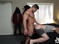 Big cock Damien Stone barebacking hard at Devins tight ass