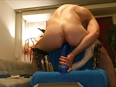 Deep and intense fisting and dildo ride