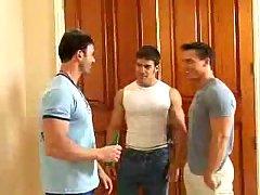 Perfect threesome rimming & handjob