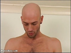 Two gay boys pleasuring a hung daddy