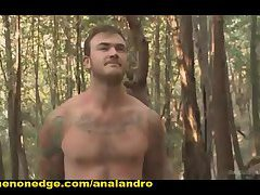 Bound Christian Wilde begs to Cum in the Woods