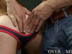 Dek spreads his ass so Max can see how deep he will be going