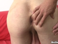 Blond gays Denis Reed and Savkov have oral sex and fuck doggy style