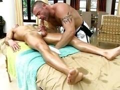 Girl/lad lad cock sucked by man-loving massage bear