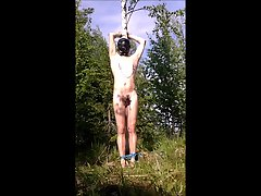 Bondage in forest 4