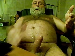 Old Man cumming 1