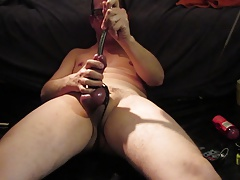 Cum in the evening by sounding and electro on my dick.