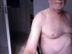 Danish grandad jerks off