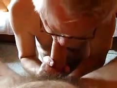 Sexy grandpa sucking a cock