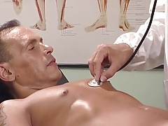 Horny doctor drilling his patient's ass