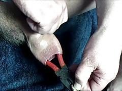 Foreskin with pliers
