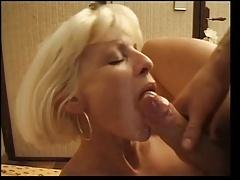 Sperma in mond, Sperma shot, Vrouw, Frans, Buiten