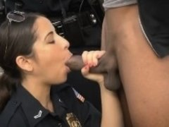 Black Dude Gets His Shlong Sucked By White Female Cops