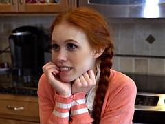 Tiny ginger teen fucked hard by tutor