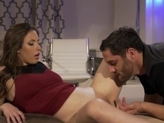 Couple is fucking in front of a horny girl that is watching it all