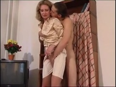 Leg hump and leg fuck with hot mom