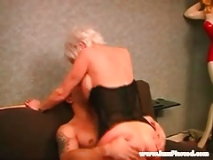 I am Pierced mature with pussy piercings in black stockings