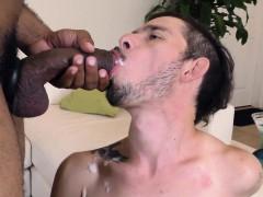 Zwart, Sperma shot, Sperma in gezicht, Homo, Hd, Interraciaal