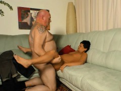 Hot German mature with a big booty gets hardcore pounded by