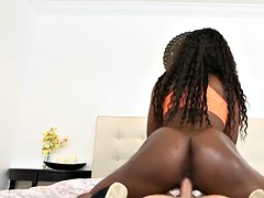 Round ass nubian babe drilled with hard cock
