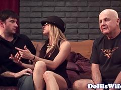 Married milf cuckolding her husband