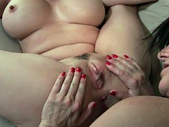 Soccer moms give their mature pussy a workout