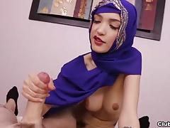 Cute chick POV handjob