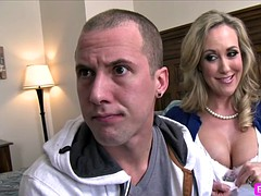 big tits milf Brandi gets to fuck for the first chunk of Jessy