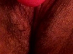 Me and my hubby masturbating while I squirt all-over his big cock