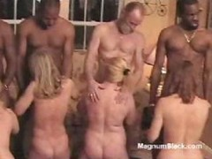 Naked sex slave broads are put to their knees and adore their portion of good love tool