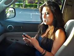 woman smoking in car 2
