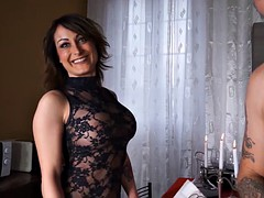 Busty Italian MILF gets dripping wet when fucked in the ass