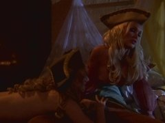 Hot threesome scene from great porn movie 'Pirates'
