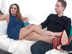 Hot MILF fucked in front of husband