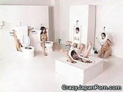 Human Toilet Broads Facialed!
