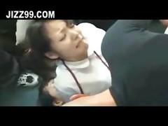 schoolgirl explicit group double drilling creampie on bus 01