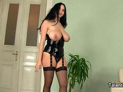 Sexy Sexually available mom In Corset Has Monster Melons