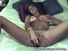 Check My MILF Slim wife with shaved pussy and sex toys