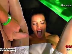 Brunette MILF loves bukkake