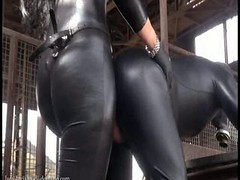 Domme Strapon in the Factory Domina Luciana Sextoy Latex PVC