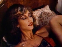 Retro Classic - Woman in Satin Underwear Pleasuring Herself
