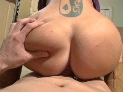 Hot mommy in boots milks your dick in a POV cock ride