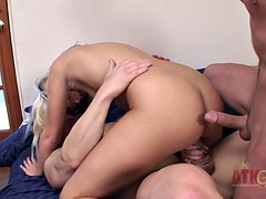 Two Cocks Penetrate Her Holes