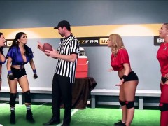 Four Hot Pornstars in The Brazzers Halftime Show II