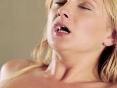 A blonde that loves cock is getting a lot of it in her ass