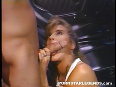 Tight young blonde fucked in car