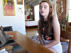 Young Karlie asks her stepbrother to teach her sex
