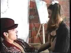 Samanta with her boyfriend. (Portuguese vintage)