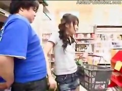 Oriental Blows off Fuck tool In A Grocery Store - Buttian Butt