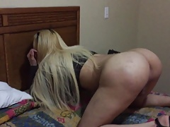Blonde Mexican Tranny